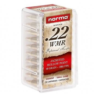 Cartouches NORMA JHP .22 Magnum