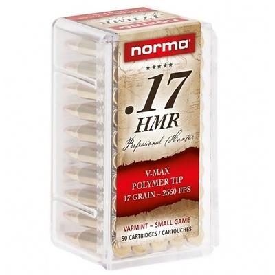 Cartouches NORMA V-Max Polymer Tip .17 HMR