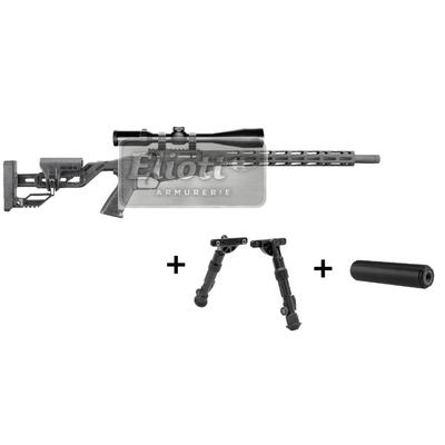 RUGER Precision Rimfire .22 LR + HAWKE Vantage SF 6-24x44  Ret. Half Mil-Dot + Bipied UTG + Sil SAK