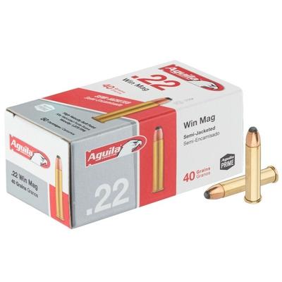 Cartouches AGUILA Haute Vitesse Soft Point .22 Magnum