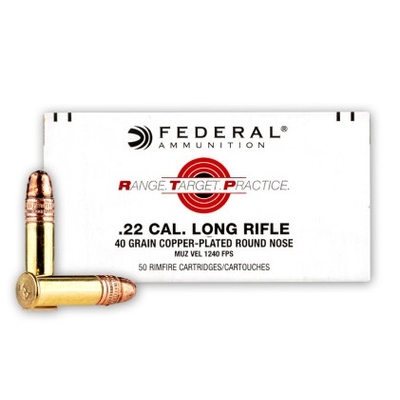 Cartouches FEDERAL Range Target Practice .22 LR