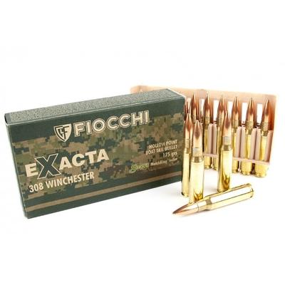 Cartouches FIOCCHI EXACTA HPBT 175 gr  .308