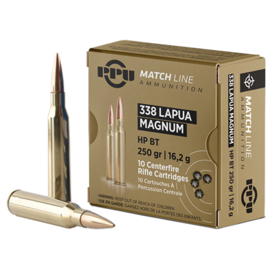 Cartouches PARTIZAN  HP BT Match 250 gr  .338 Lapua Magnum