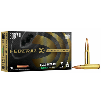 Cartouches FEDERAL Gold Medal 175 gr Sierra Matchking  .308