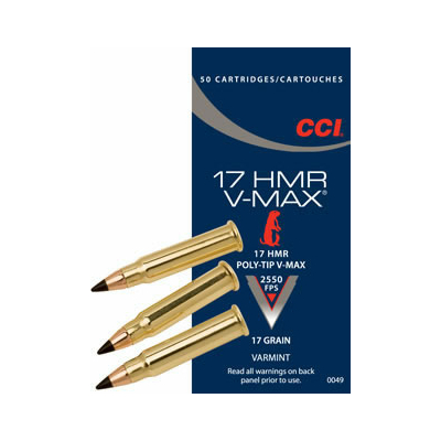 Cartouches CCI V-Max  .17 HMR