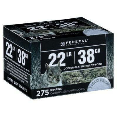 Cartouches FEDERAL Field Pack  .22LR /275
