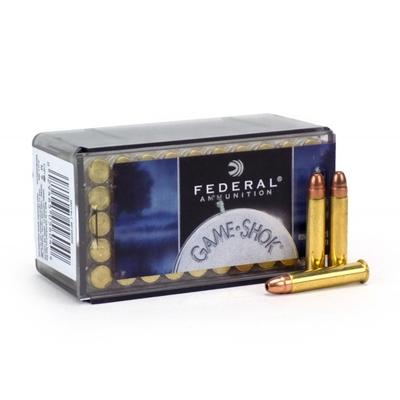 Cartouches FEDERAL GameShok JHP  Calibre .22 Magnum