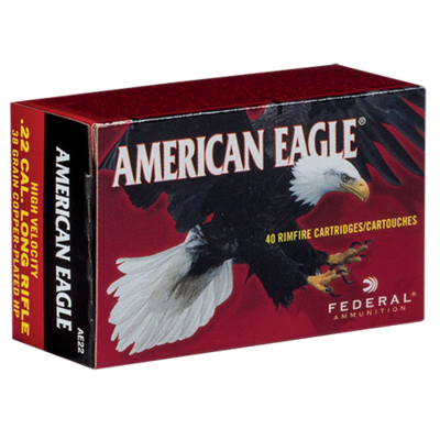 Cartouches AMERICAN EAGLE 38 gr HP HV  .22LR