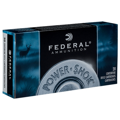 Cartouches FEDERAL Power Shok Soft Point  55 gr  .22-250