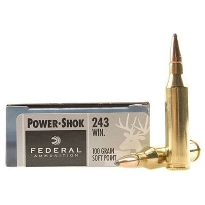 Cartouches FEDERAL Power Shok SP  100 gr   calibre .243