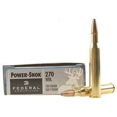 Cartouches FEDERAL Power Shok SP  130 gr   calibre .270