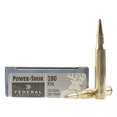 Cartouches FEDERAL Power Shok SP 150 gr   calibre .280