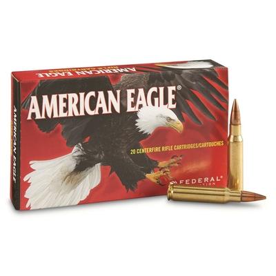 Cartouches AMERICAN EAGLE  FMJ BT 150 gr   calibre .308