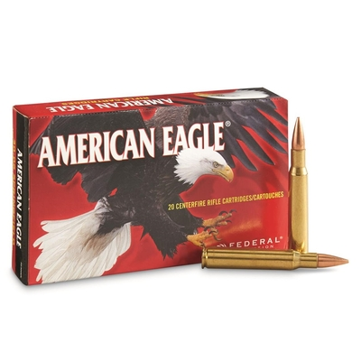Cartouches AMERICAN EAGLE  FMJ BT 150 gr   calibre .30-06