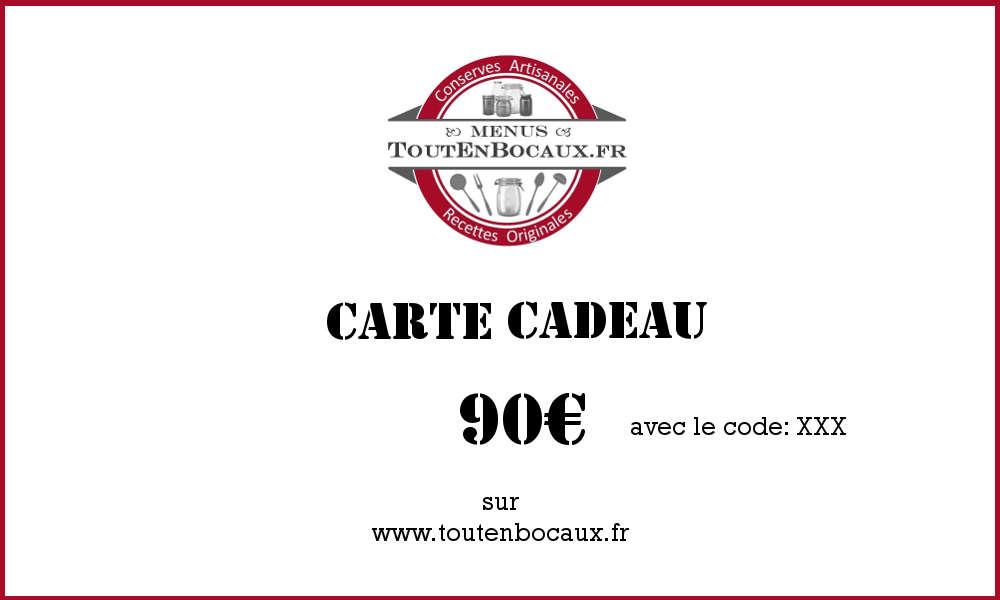 Chèque cadeau 90€