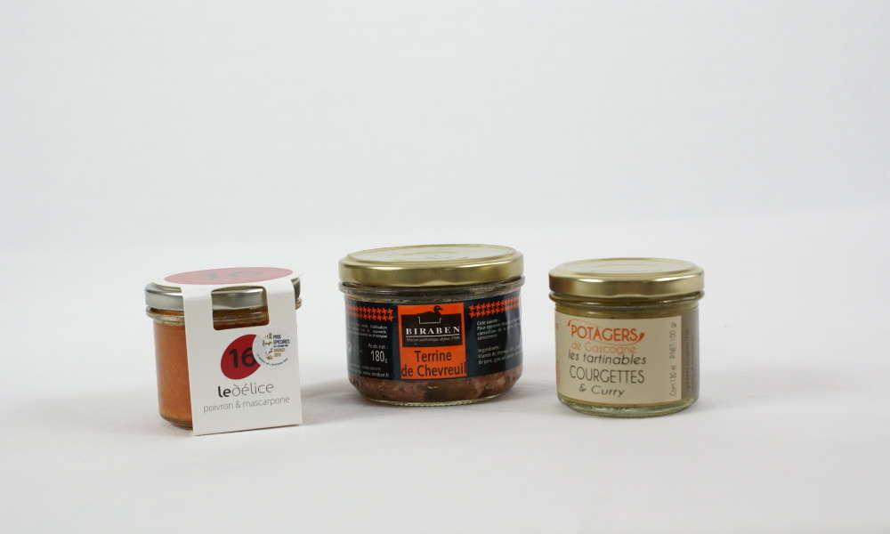 Terrine chevreuil poivron mascarpone courgettes & curry