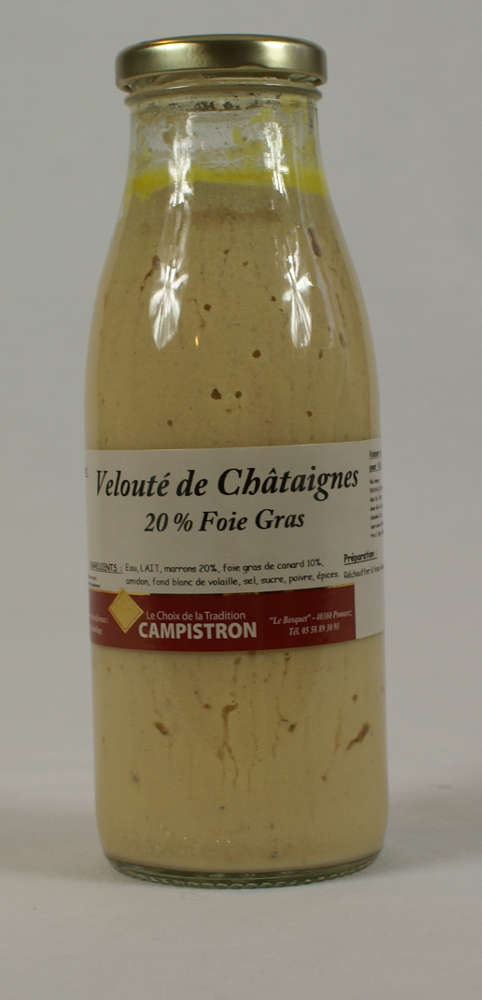 Bocal velouté de châtaignes & foie gras