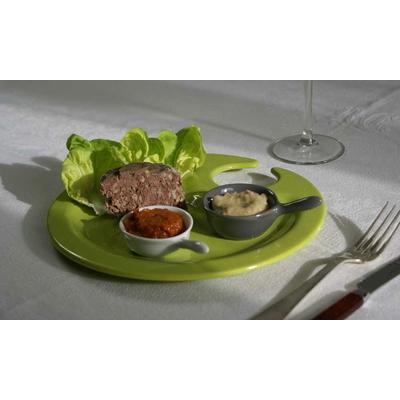 Terrine de chevreuil, artichaut ciboulette & tomates basilic