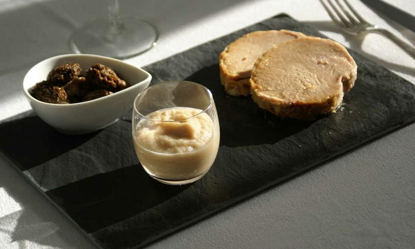 Rôti de porc fermier confi à la graisse de canard, morilles, purée fine bio navet miel 2 compression2