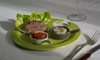 Terrine de chevreuil Artichaut ciboulette Tomates confites basilic3