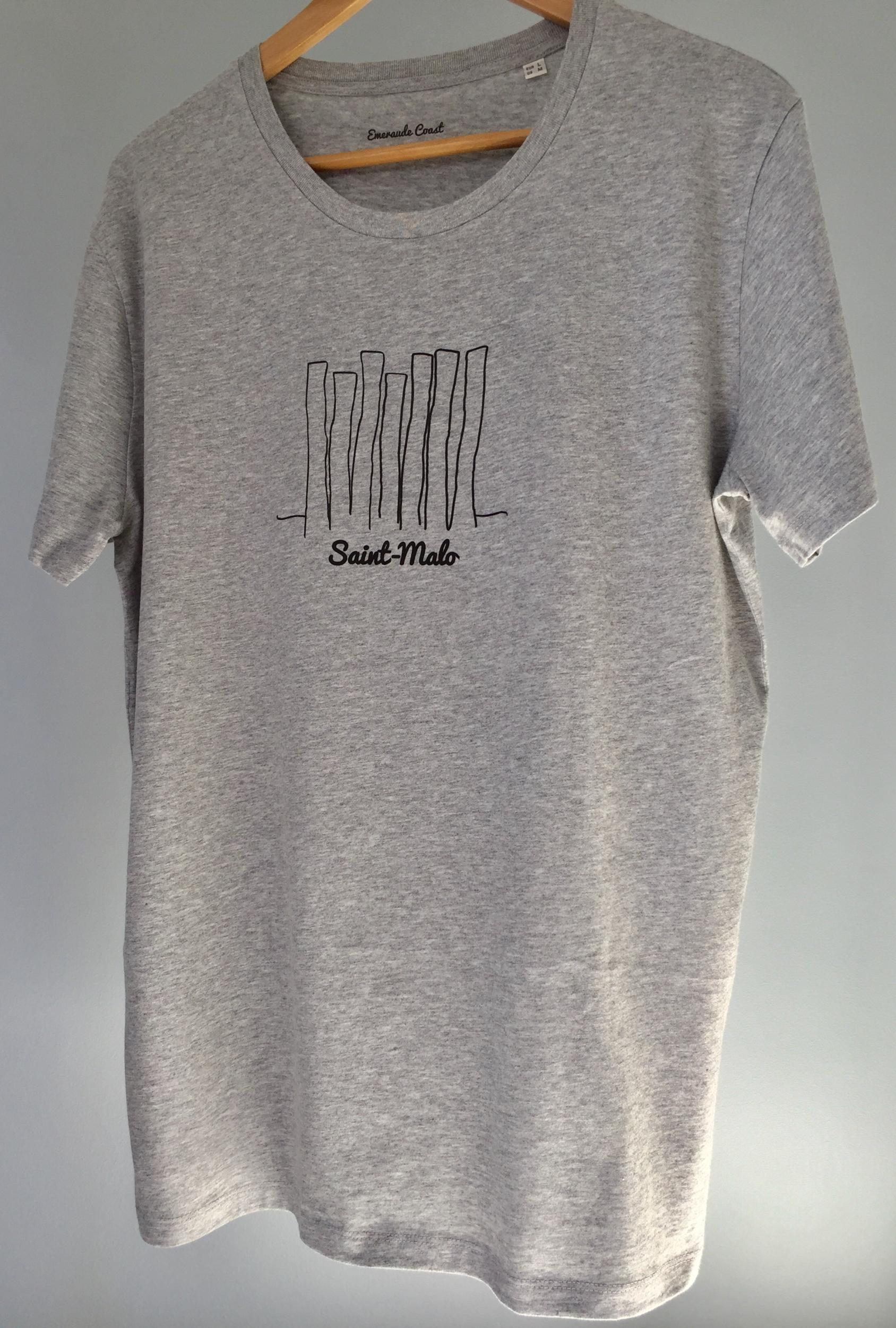 T-shirt Bio Homme Saint-Malo Brise Lames