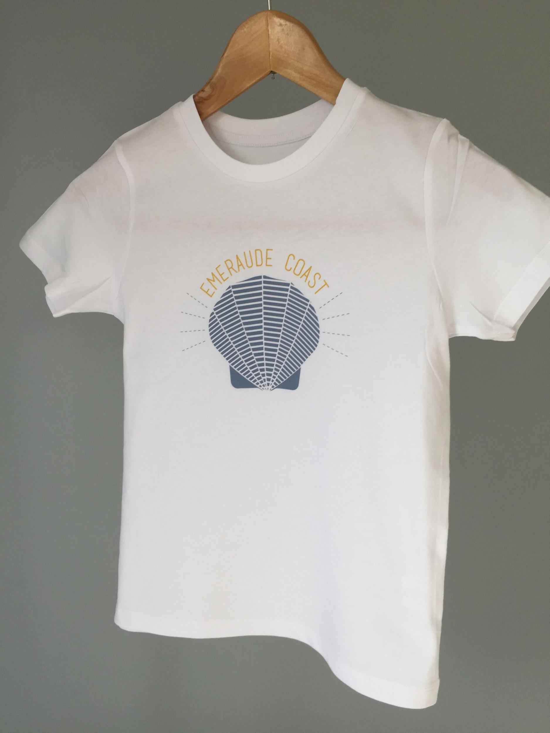 Teeshirt Breton Bio Enfant coquille