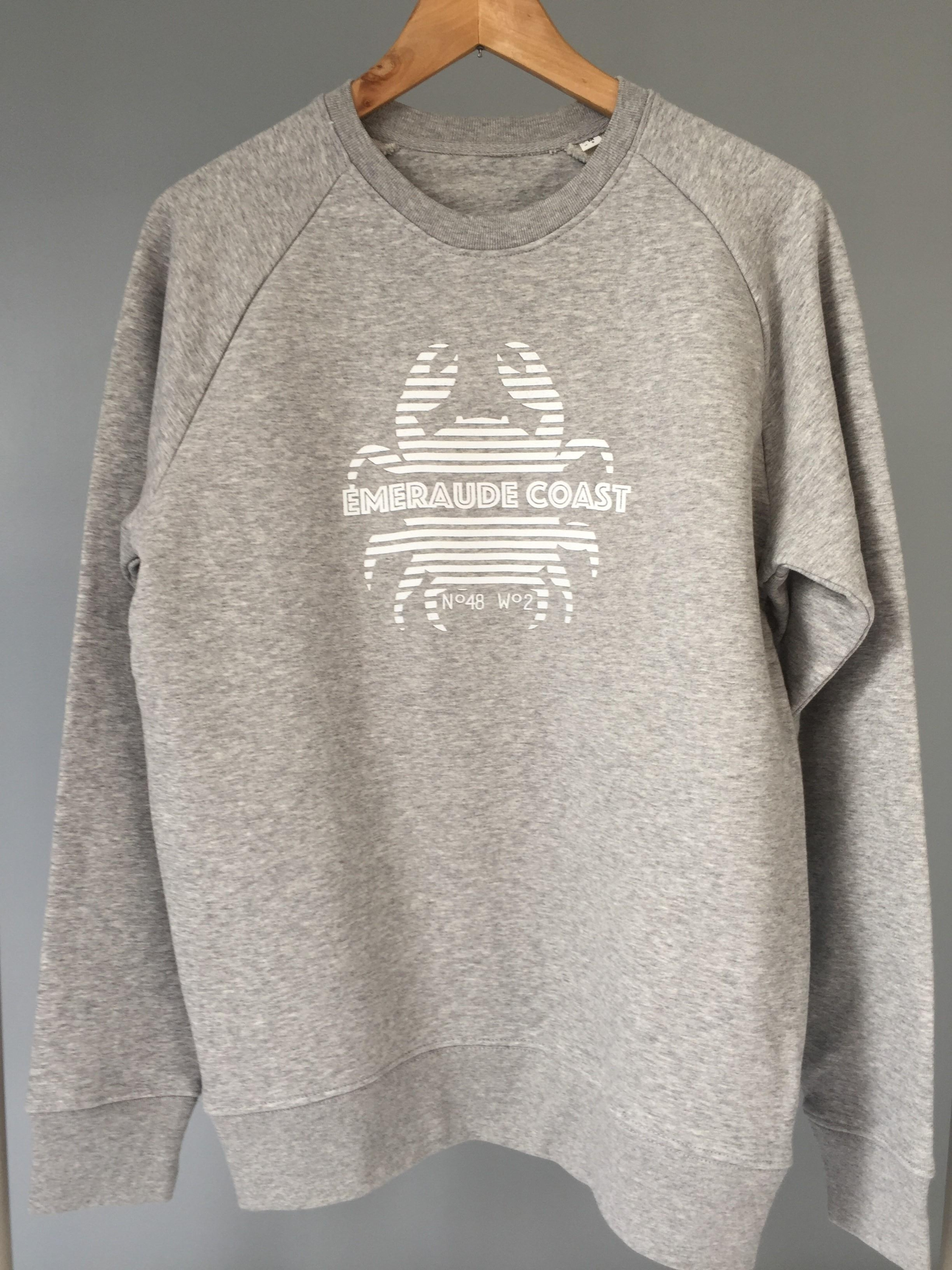 Sweat adulte gris Crabe