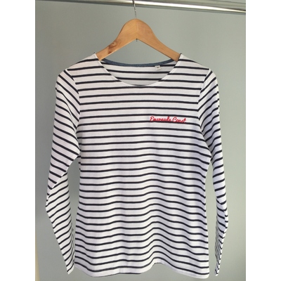 T-shirt femme Marinière brodé Emeraude Coast