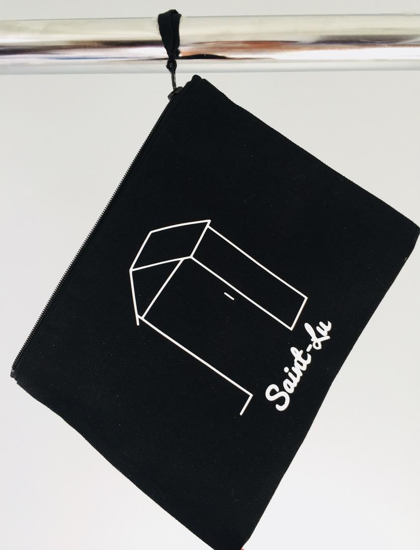 pochette st lu noire portant