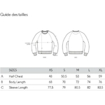 guide tailles sweat gris crabe