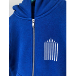 sweat breton zippe enfant Tente bleu zoom