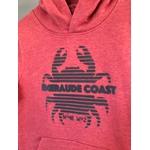 sweat breton emeraude coast crabe rose zoom