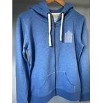 sweat breton zippe adulte bleu chiné