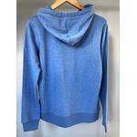 sweat breton zippe adulte bleu chiné dos