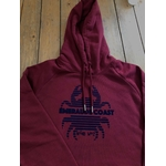 sweat breton adulte emeraude coast crabe bordeaux zoom
