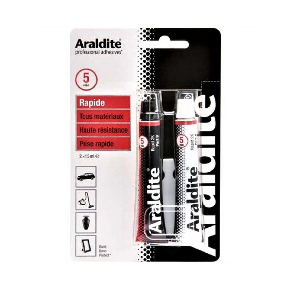 Colle rapide époxy 2 x 15ml