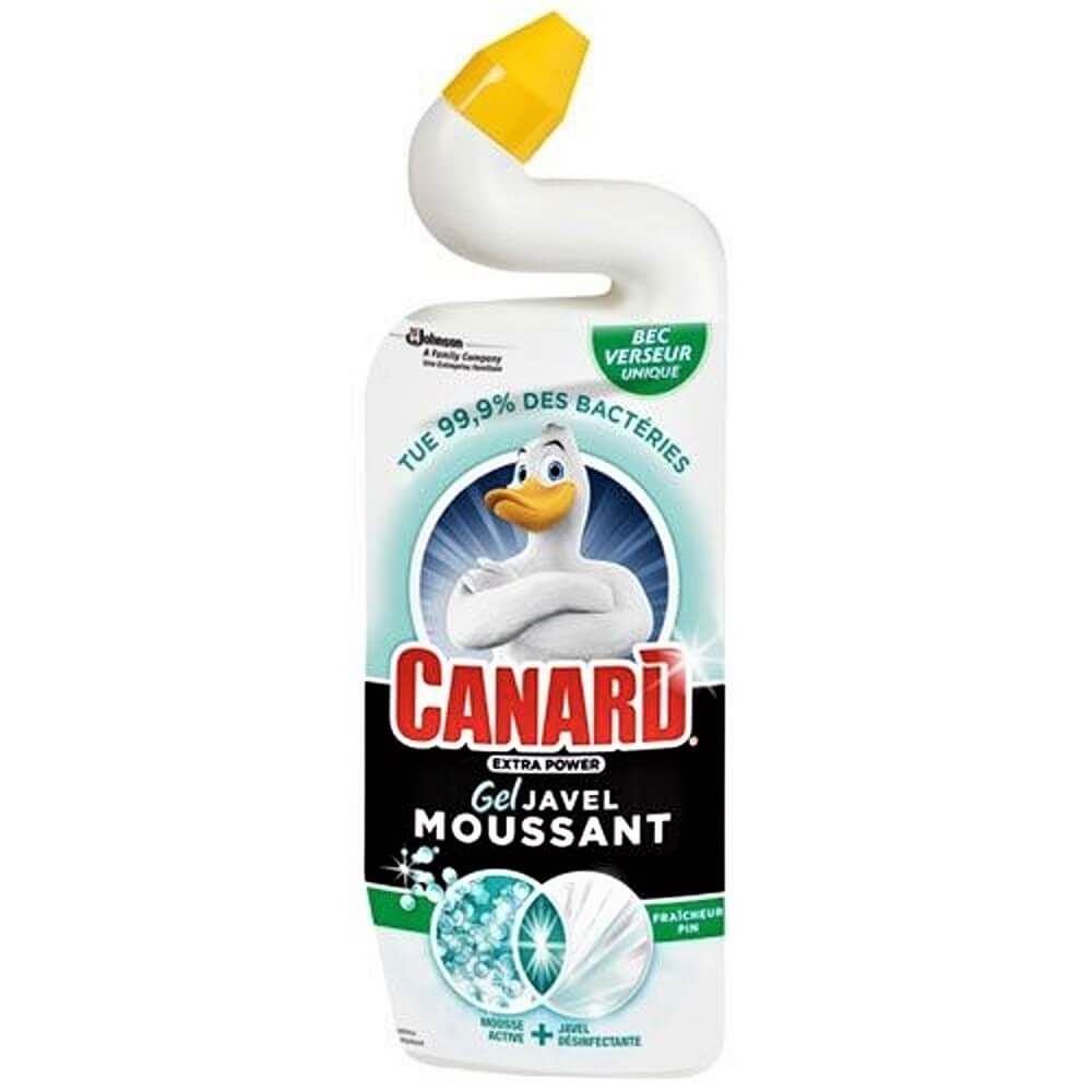 Canard wc gel extrapower javel moussante pin