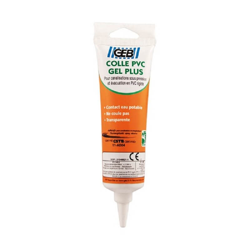 Colle PVC gel plus tube 125ml