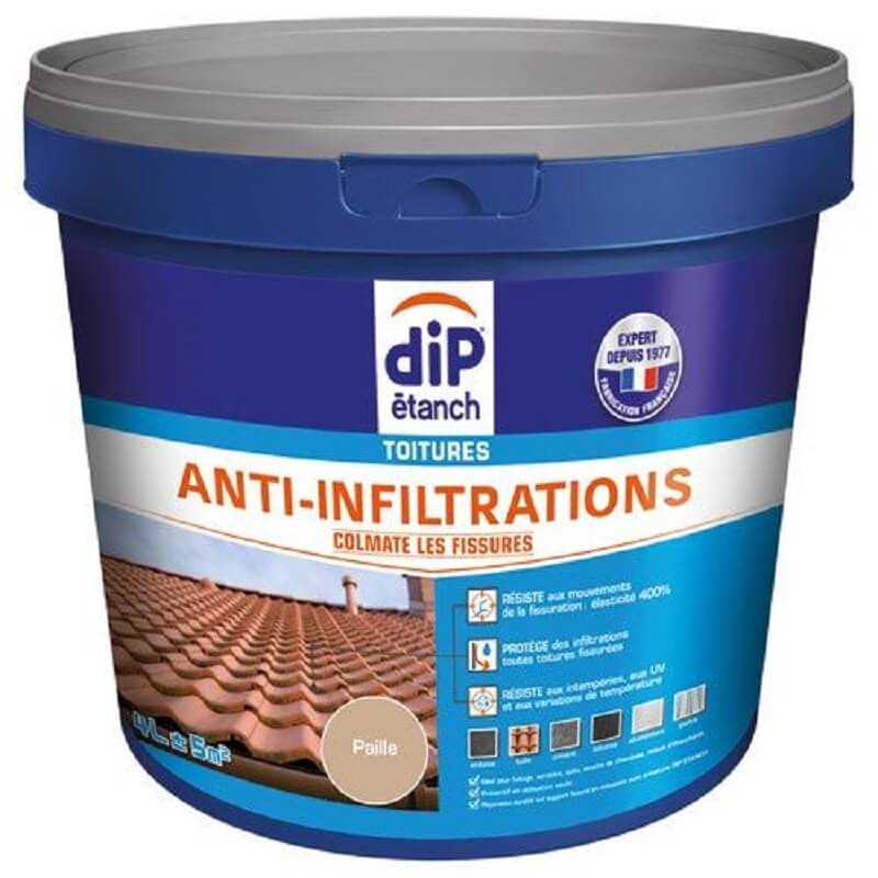 Dip étanch toitures anti-infiltration 4l paille