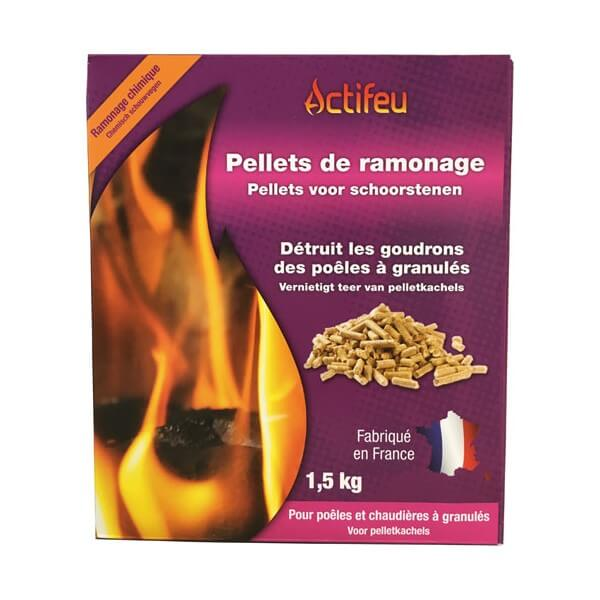 Pellets de ramonage en boîte de 1500g