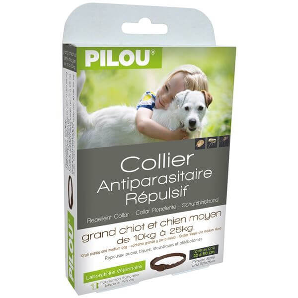 Collier tiques puces insectifuge chien