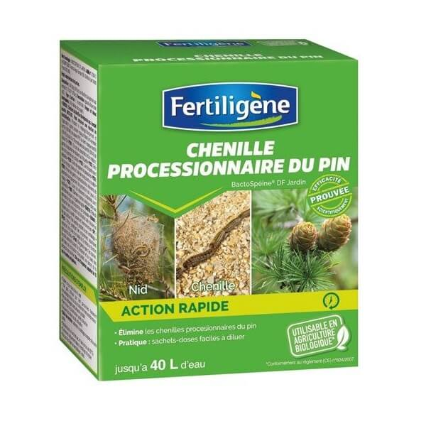 Insecticide bactospéine chenille processionnaire 20g
