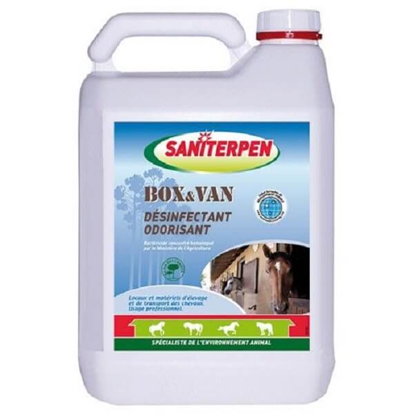Désinfectant odorisant Saniterpen box et van 5L