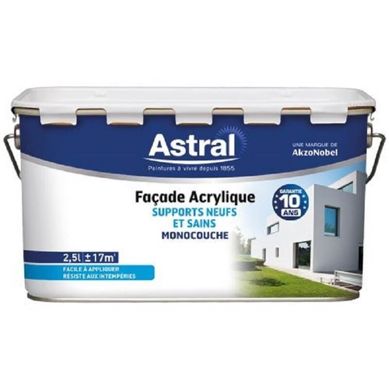Facade acrylique 2.5L blanc base white
