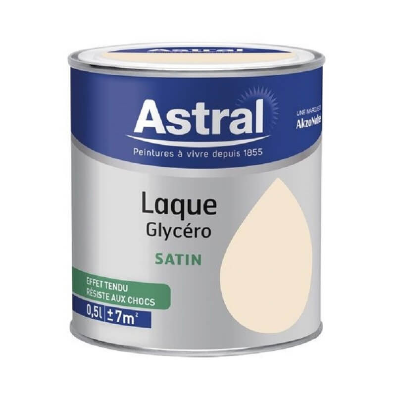 Laque satin 0.5L coquille d\'oeuf