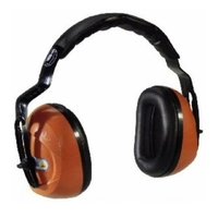 Casque anti bruit orange