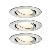 Encastrés LED Nova IP65 rond 7 W GU10 Kit de 3