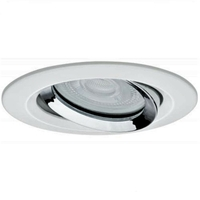 Encastré LED Nova IP65 rond 7 W blanc/chrome