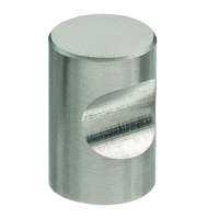Bouton index inox brossé