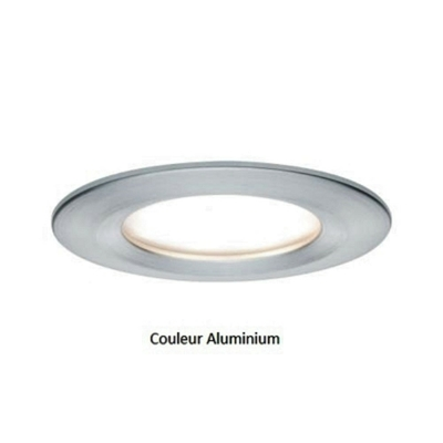 Encastrés LED Coin Slim IP44 rond 6,8 W alu